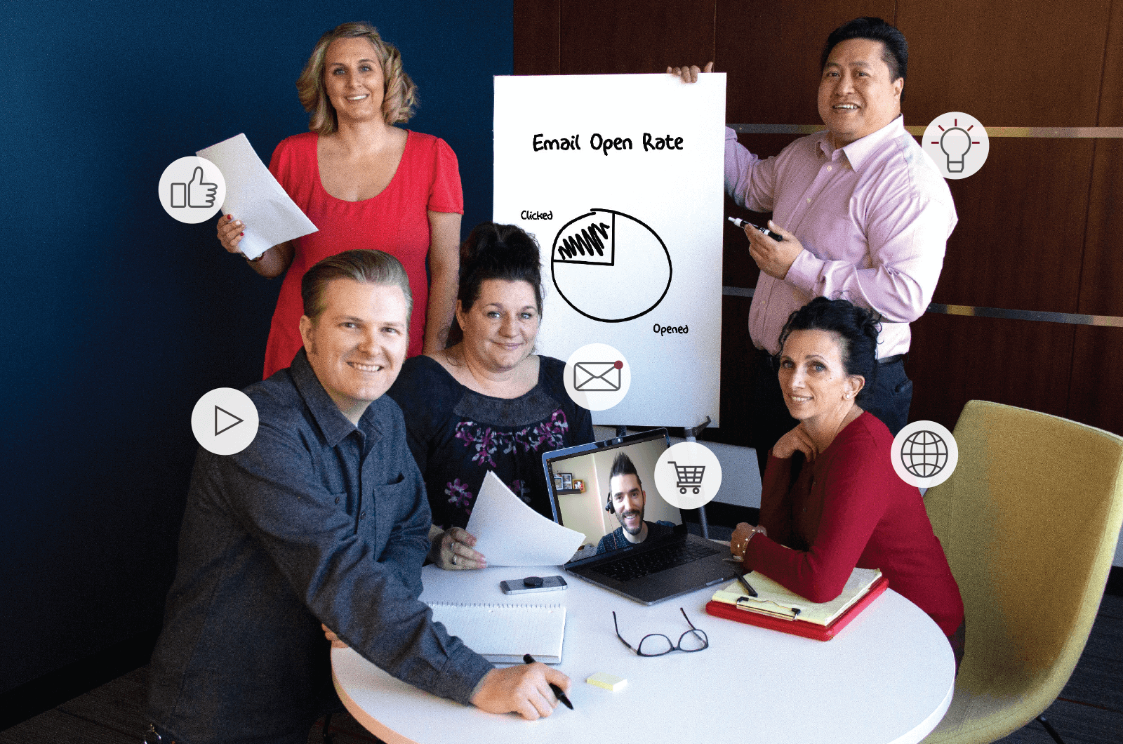 Members of the World Headquarters digital marketing team