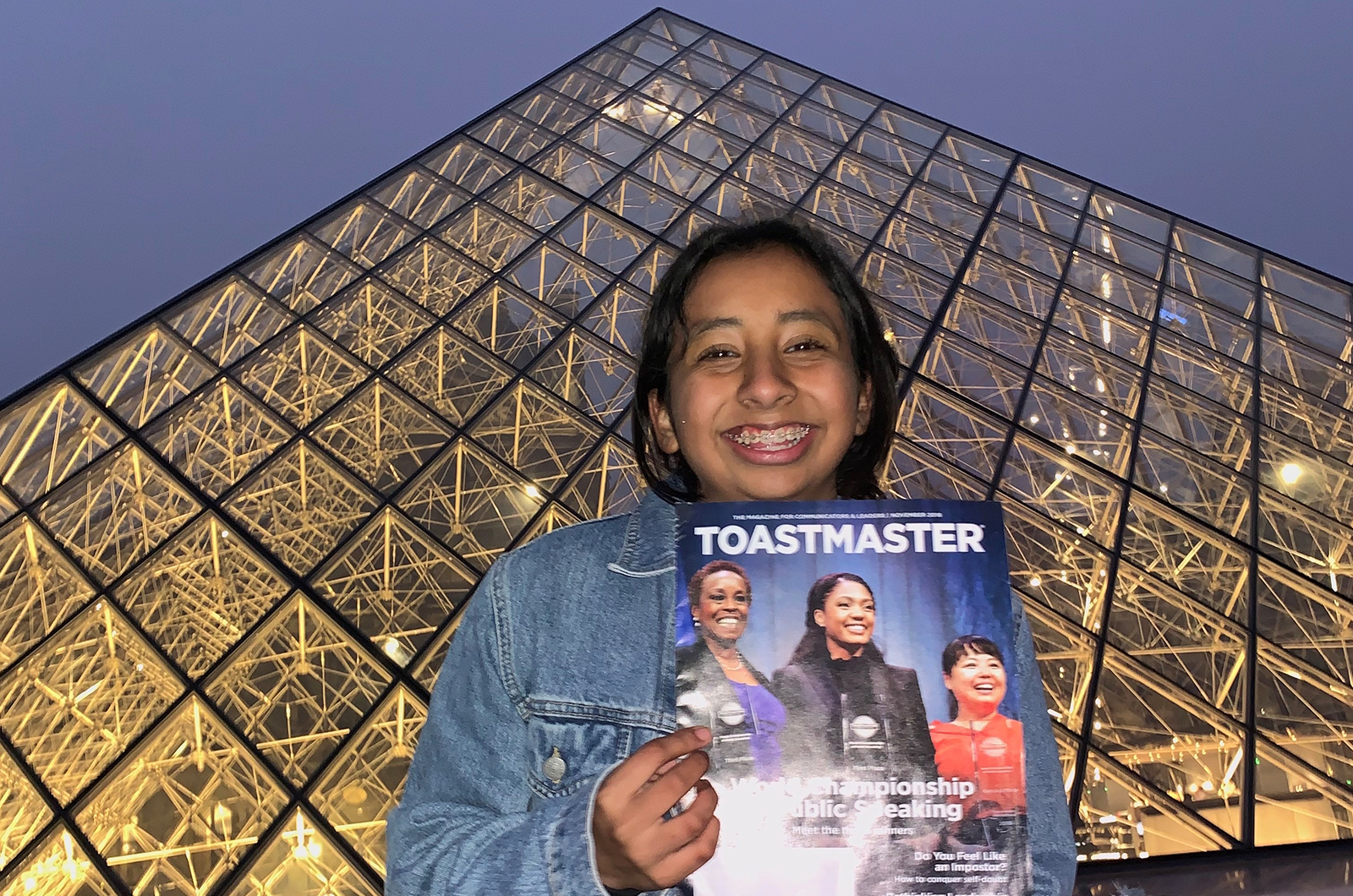 Melissa Rodriguez of Texcoco, Mexico, explores the Louvre Museum in Paris, France.