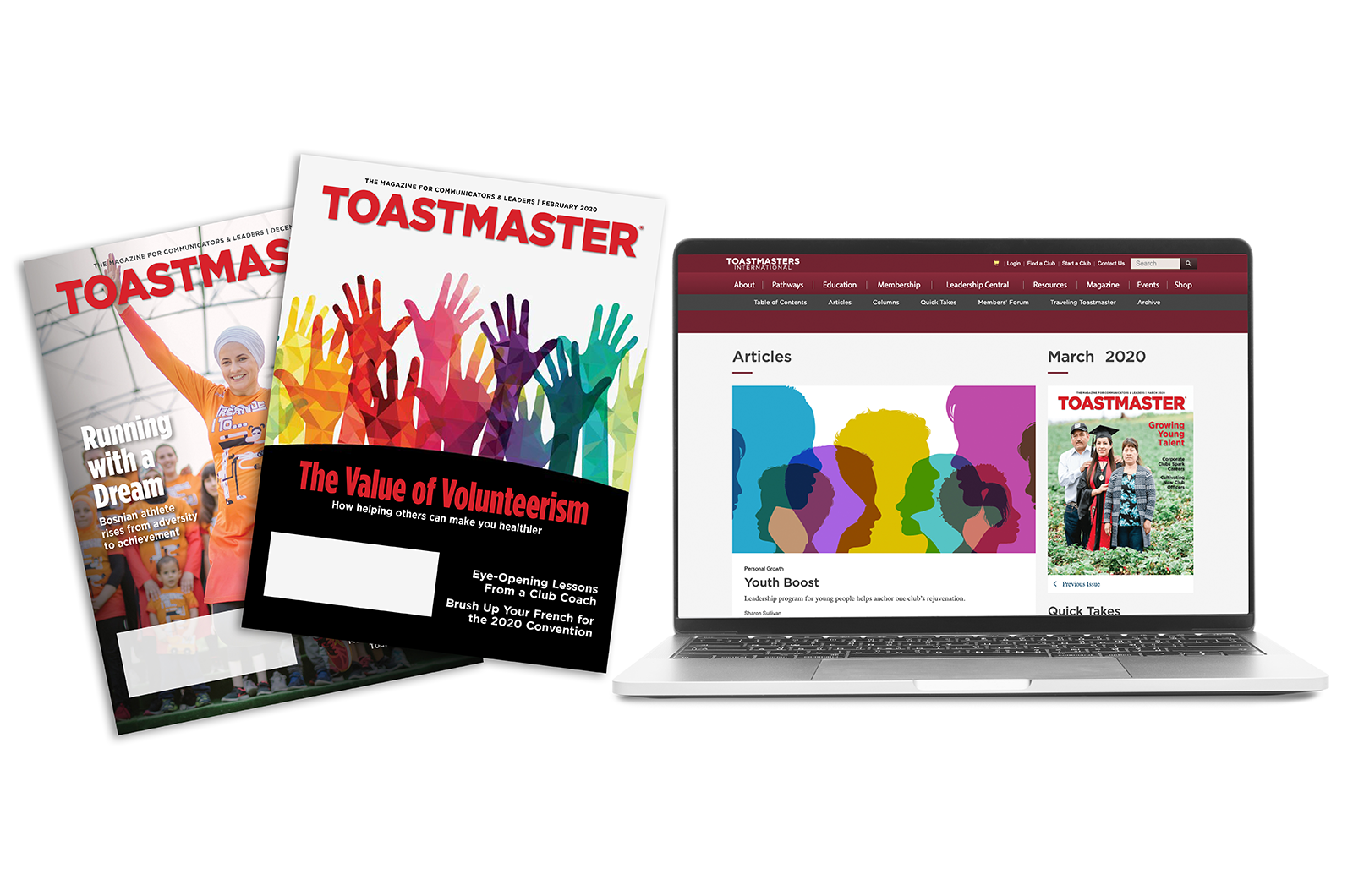 Toastmaster magazines in print and online