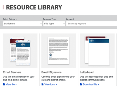 Samples of documents in the Resource Library on the Toastmasters International website