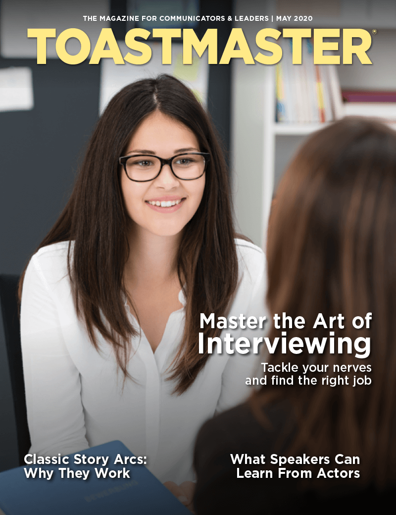May 2020 Toastmaster magazine cover