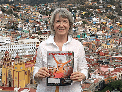 Barbara Sugawara of Surrey, British Columbia, Canada, overlooks the colorful town of Guanajuato, Mexico, which was named a UNESCO World Heritage Site in 1988.