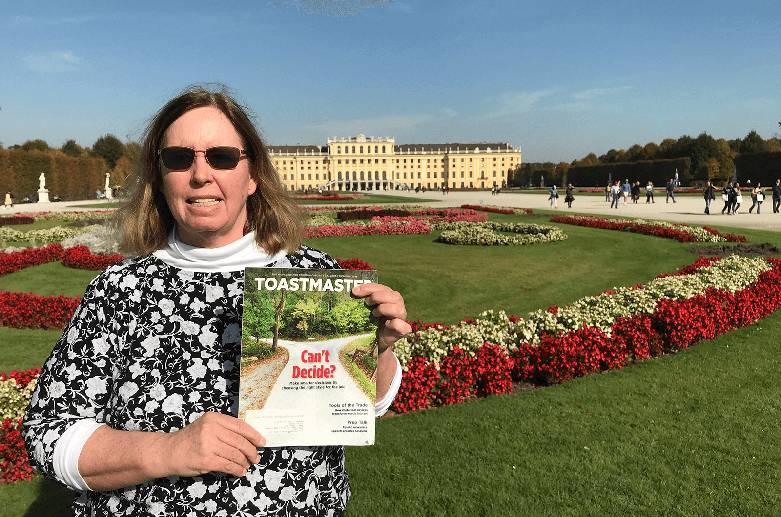 Mary Roca, DTM, of Mooresville, North Carolina, visits the Schönbrunn Palace and Gardens in Vienna, Austria.