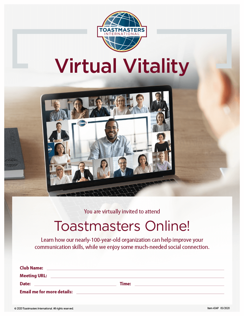 Image of flier inviting people to attend an online meeting
