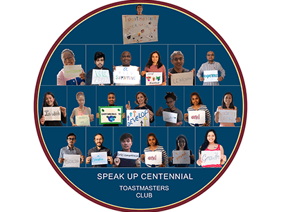 Circle with individual images of people holding up signs