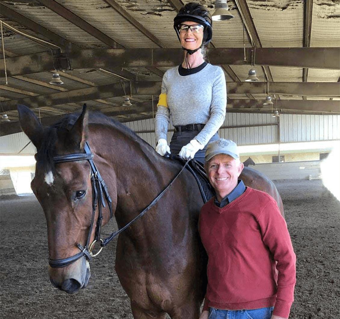 McAlexander and top para-equestrian trainer Kai Handt.