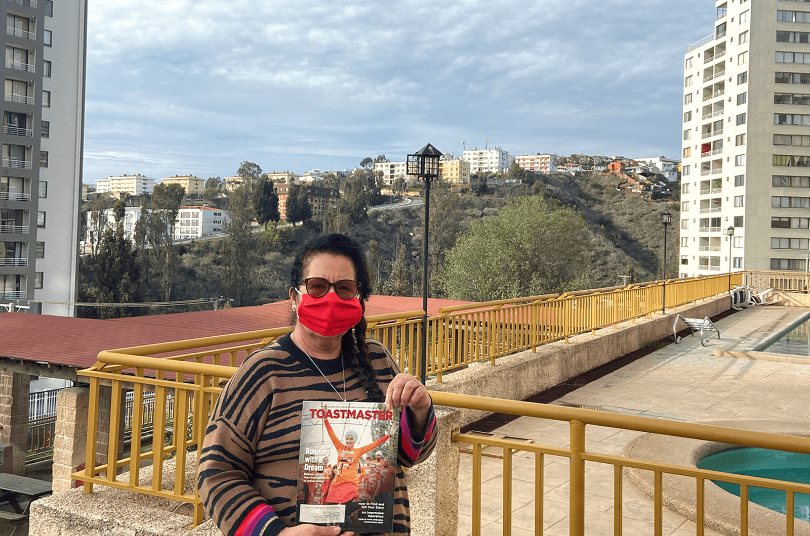Mariana Carrasco of Parlin, New Jersey, is thankful she could get some entertainment from her Toastmaster while quarantining in Valparaiso, Chile, after her flight home was canceled.