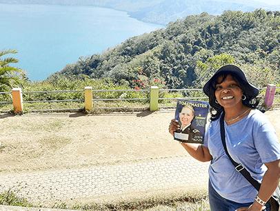Sandra Fénelon of Montreal, Quebec, Canada, visits Mirador de Catalina, which overlooks the Apoyo Lagoon in Nicaragua in January.