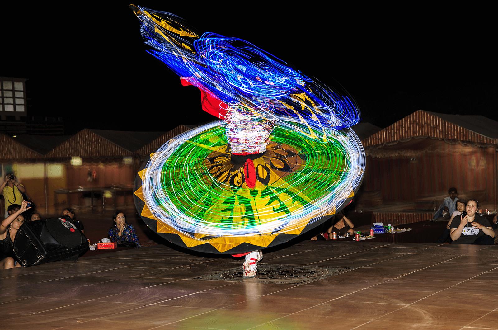 "A Sufi dancer in Dubai performs the ""Tanoura Dance"""