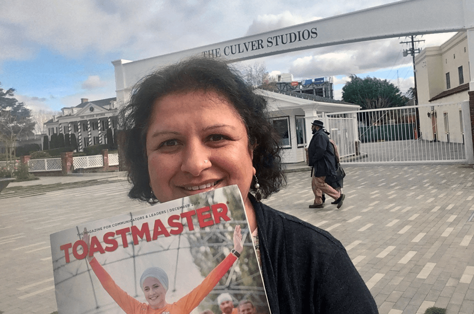 Anita Devi of Milton Keynes, England, United Kingdom, stands in front of The Culver Studios, in Culver City, California, on Boxing Day 2019.