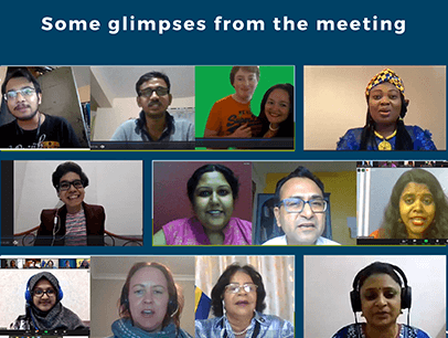 Men and women on Zoom call