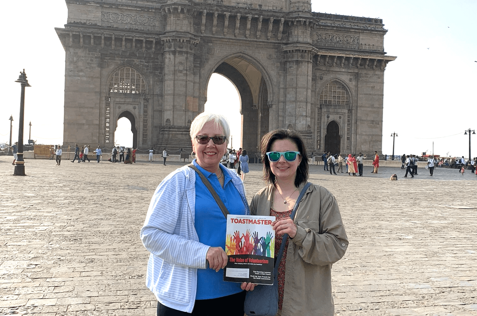 Jen Czapla, (pictured right) with her aunt, Gail, are members of clubs in different states, but travel the world together with their Toastmaster magazine.