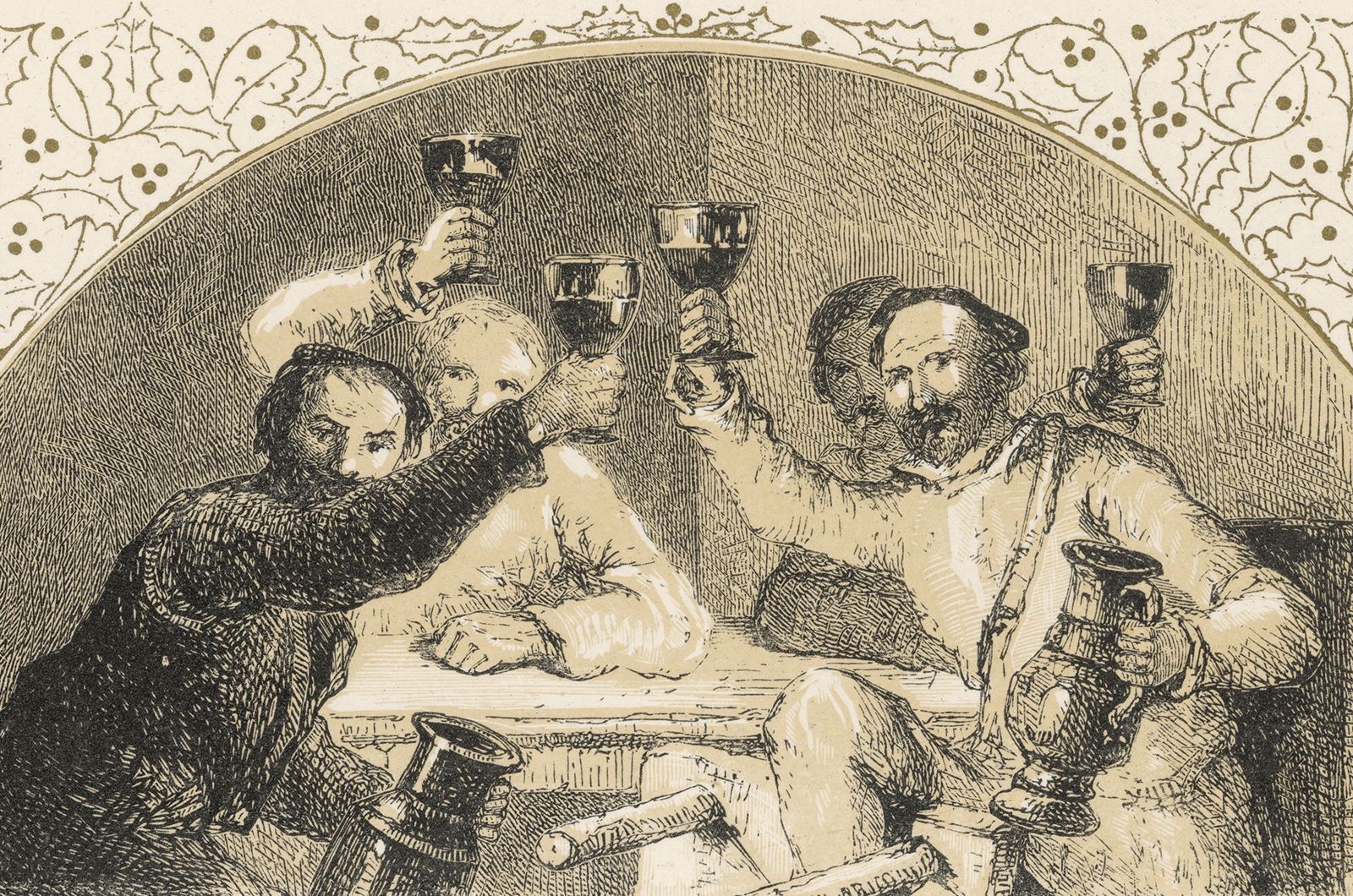Men from 16th century toasting