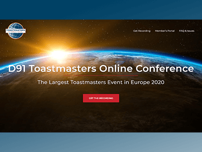 Webpage for online conference
