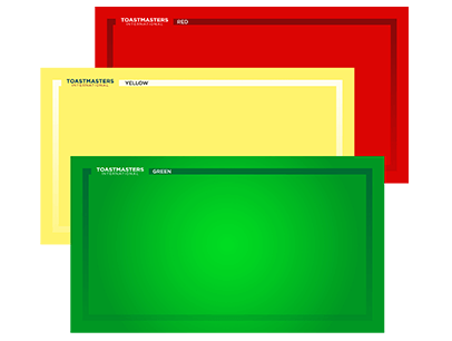 Red, yellow, and green Toastmasters virtual backgrounds