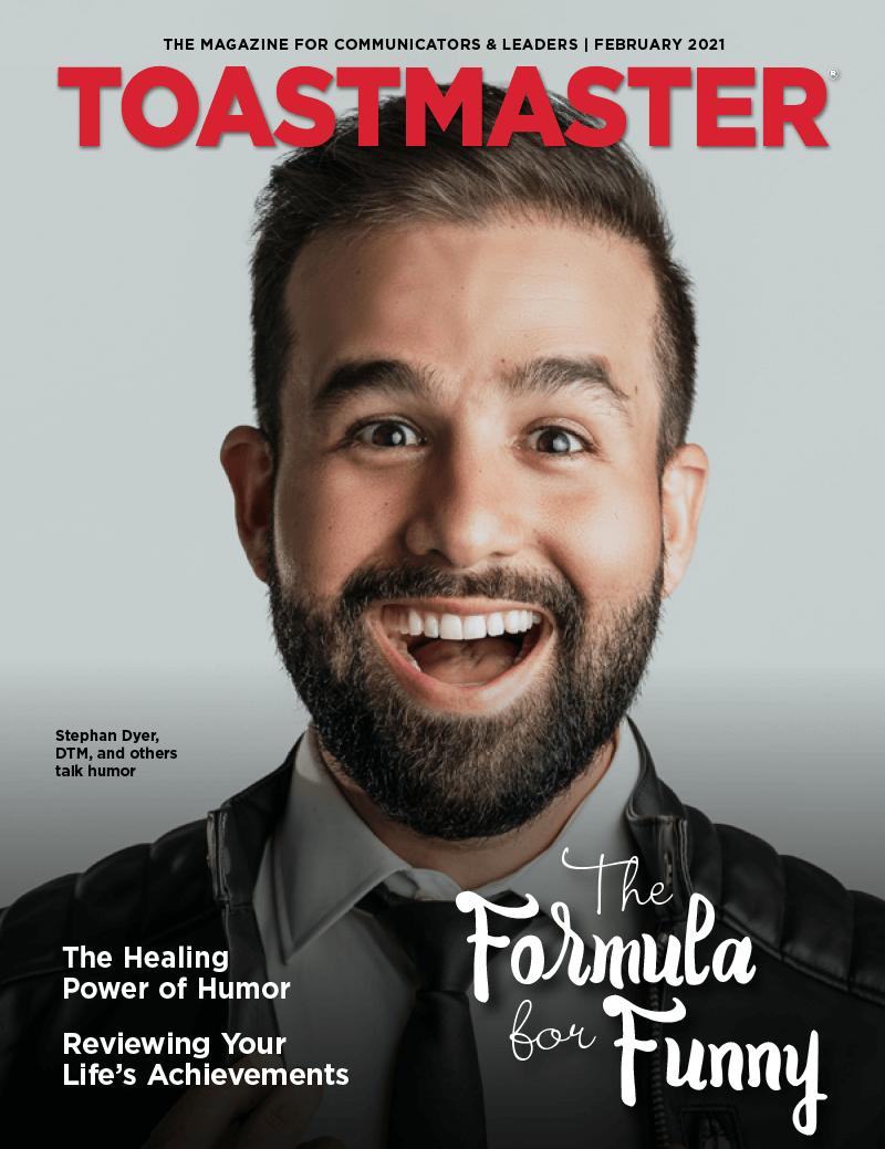 February 2021 cover of Toastmaster magazine