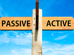 Sign with words active and passive