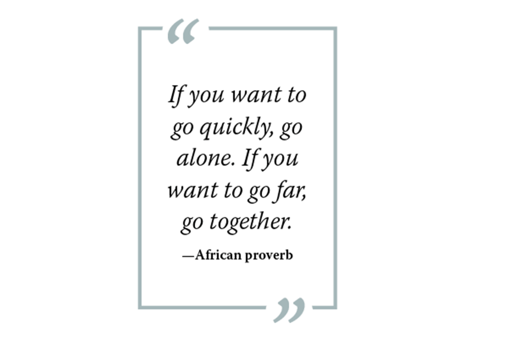 Graphic of African proverb