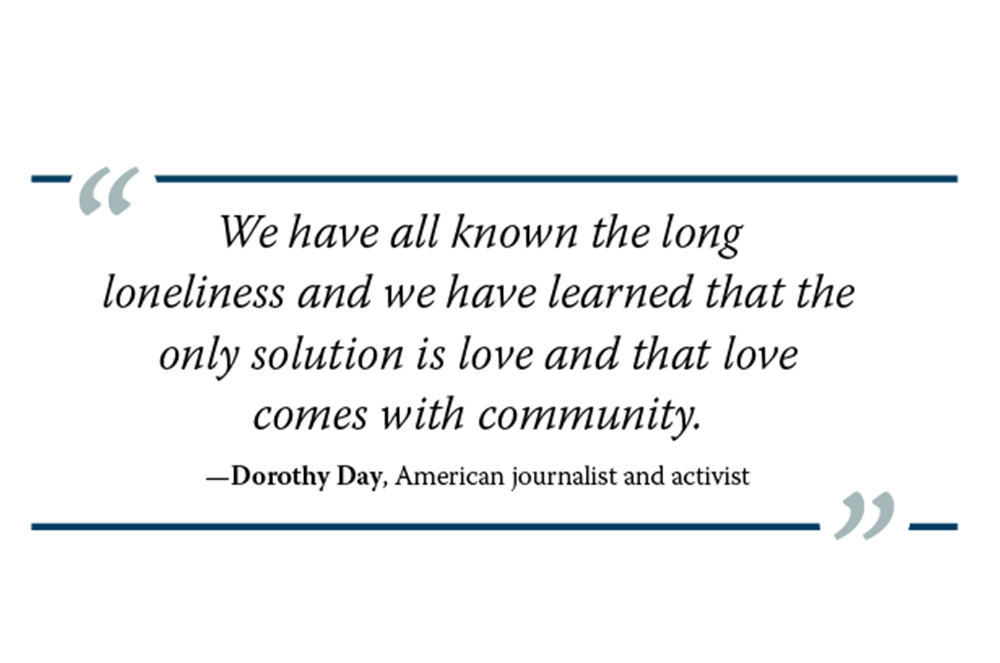 Graphic of Dorothy Day quote
