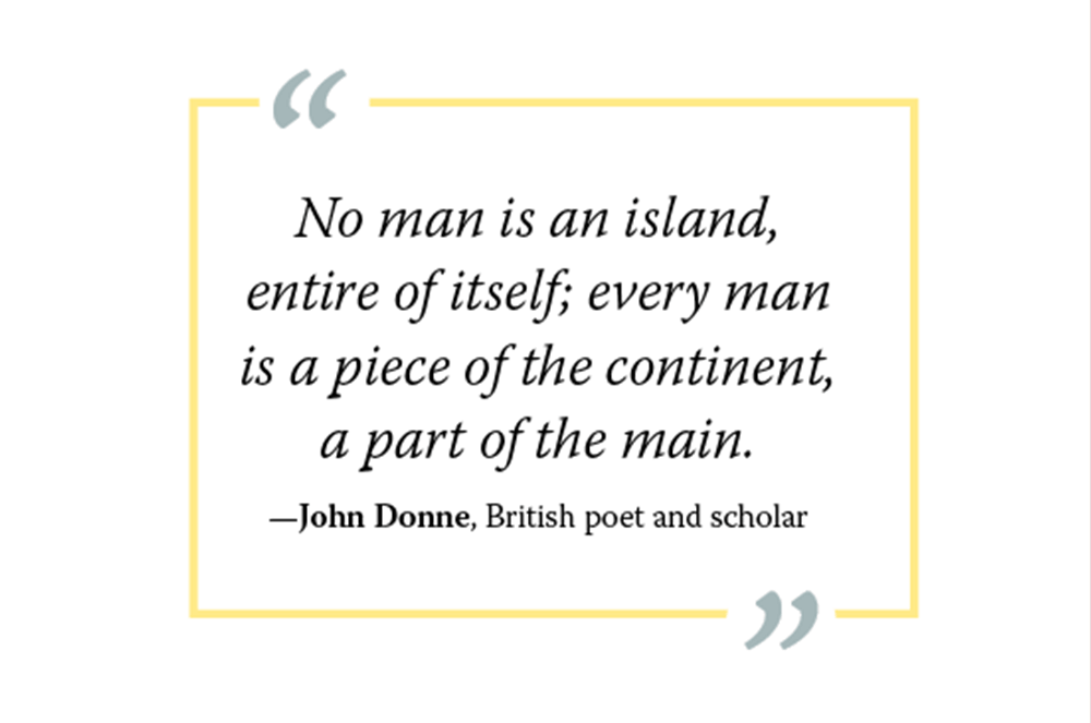 Graphic of John Donne quote