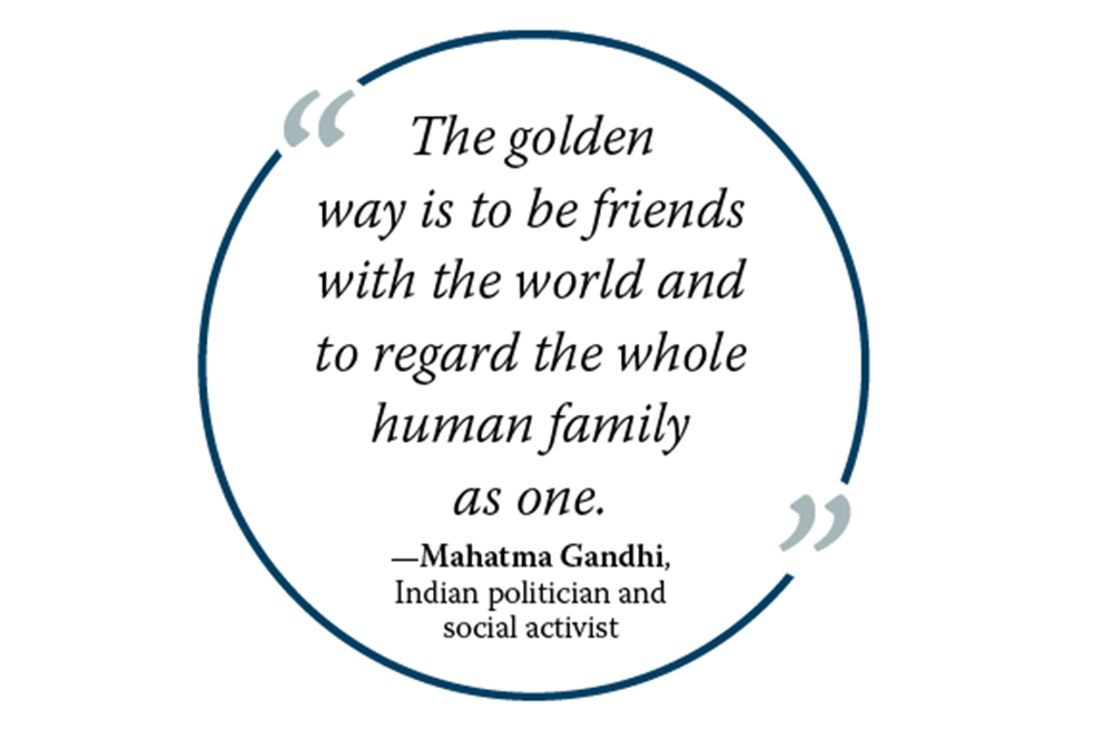 Graphic of Mahatma Gandhi quote
