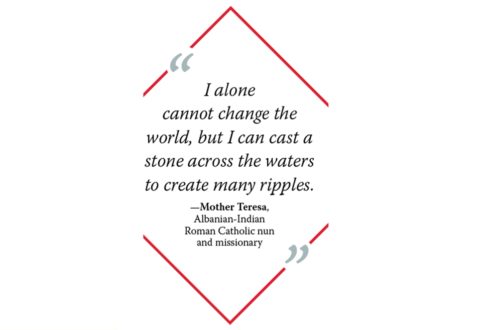 Graphic of Mother Teresa quote