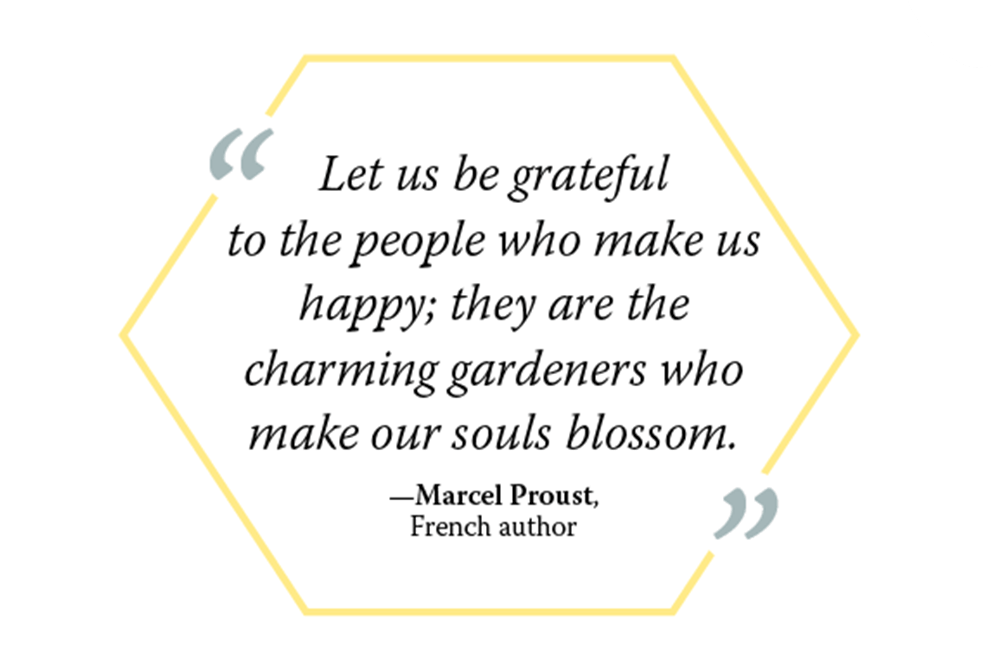 Graphic of Marcel Proust quote