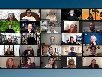 Group of people on a Zoom call