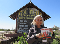 Susan Brushafer of Richfield, Wisconsin, visits the Goldfield Ghost Town in Apache Junction, Arizona, in early 2020.