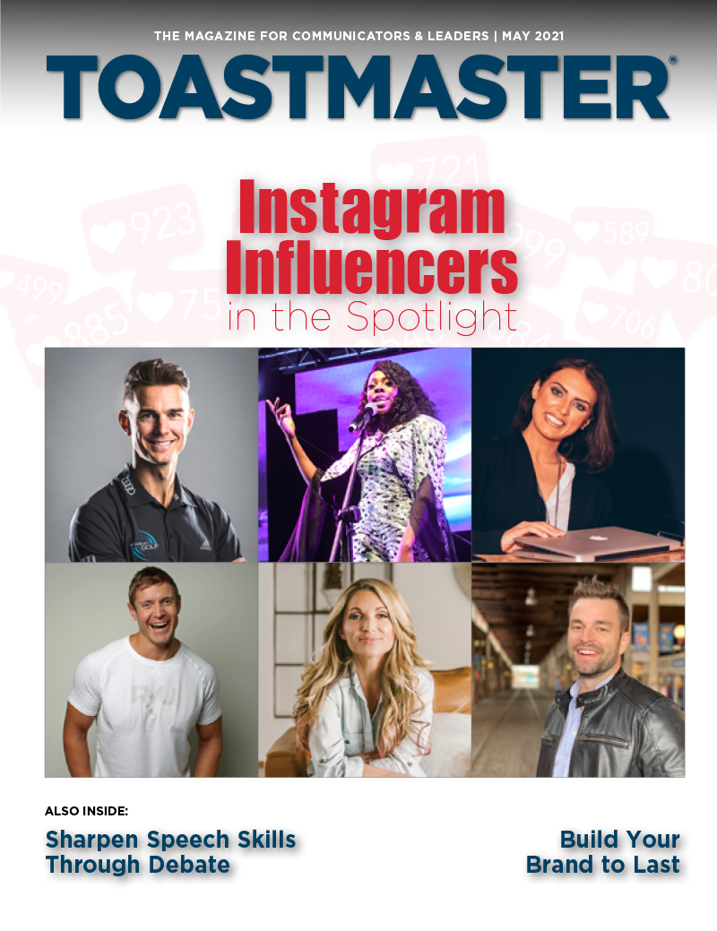 May 2021 cover of Toastmaster magazine