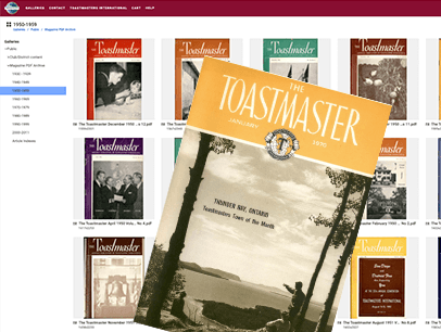 Covers of Toastmaster magazine
