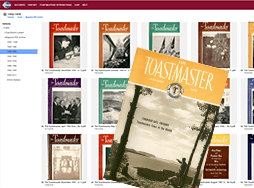Covers of Toastmaster magazine