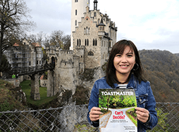 CV Chon of Johor Bahru, Johor, Malaysia, poses in front of Lichtenstein Castle in the Swabian Jura region of Germany, in December 2019.