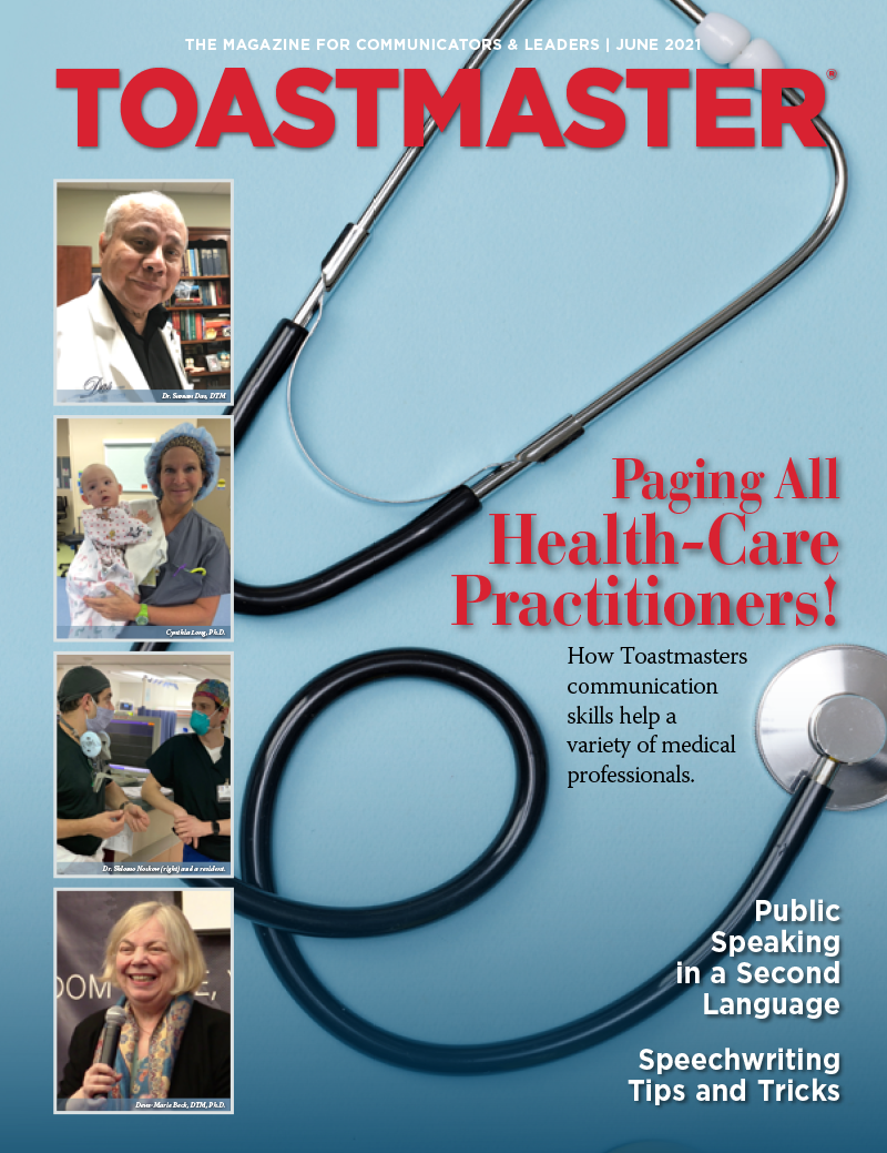 June 2021 cover of Toastmaster magazine