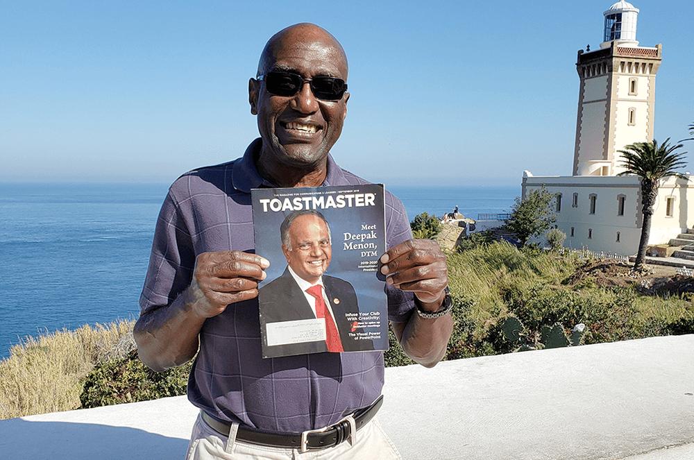 George Shy of Cerritos, California, visits Cape Spartelnear Tangier, Morocco, in 2019.