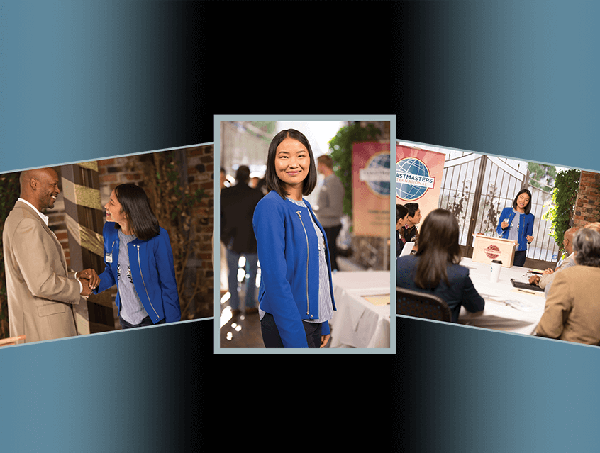 Woman smiling in blue jacket