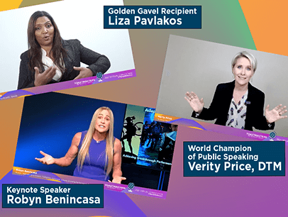 Three woman speaking on virtual platform