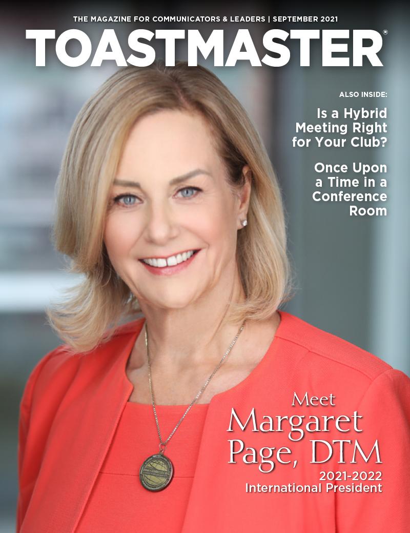 September 2021 cover of Toastmaster magazine