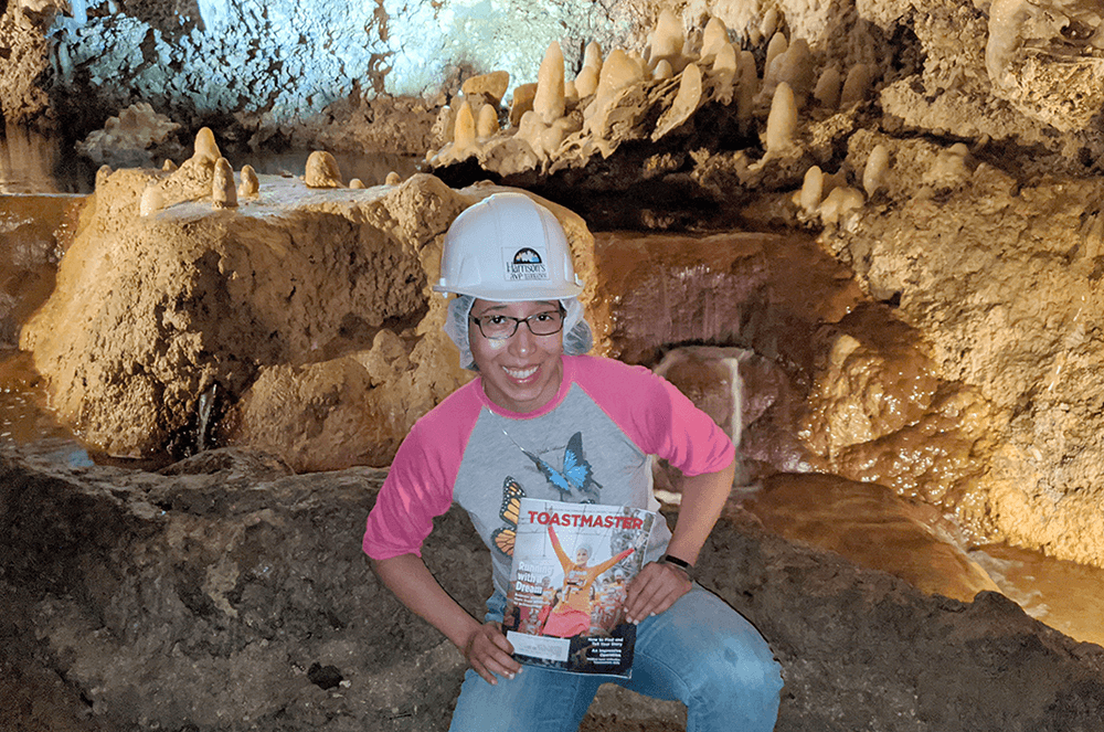 Natalie Davila-Rendon of Windermere, Florida, enjoys a tour through Harrison's Cave in Allen View, Barbados, while on a pre-pandemic Caribbean cruise.