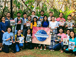 Deccan Toastmasters Club in Pune, Maharashtra, India, hosts its first in-person meeting in March 2021.