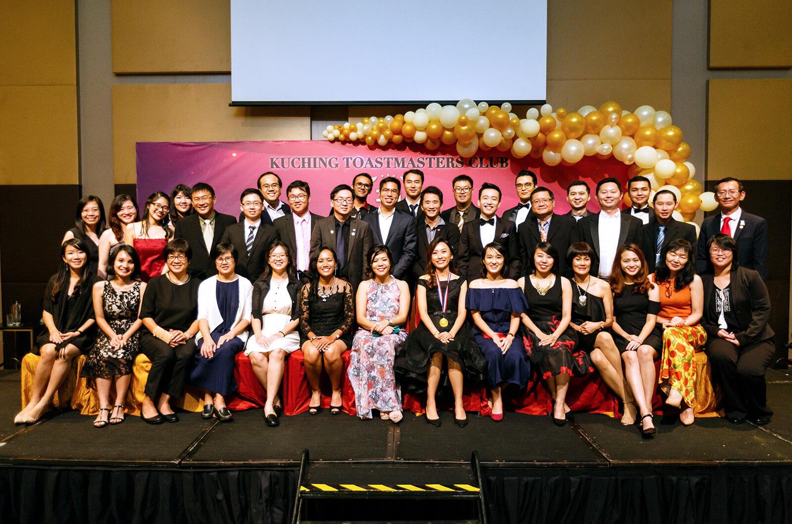 Kuching Toastmasters club in Kuching, Sarawak, Malaysia, celebrates its 30th Installation Dinner.