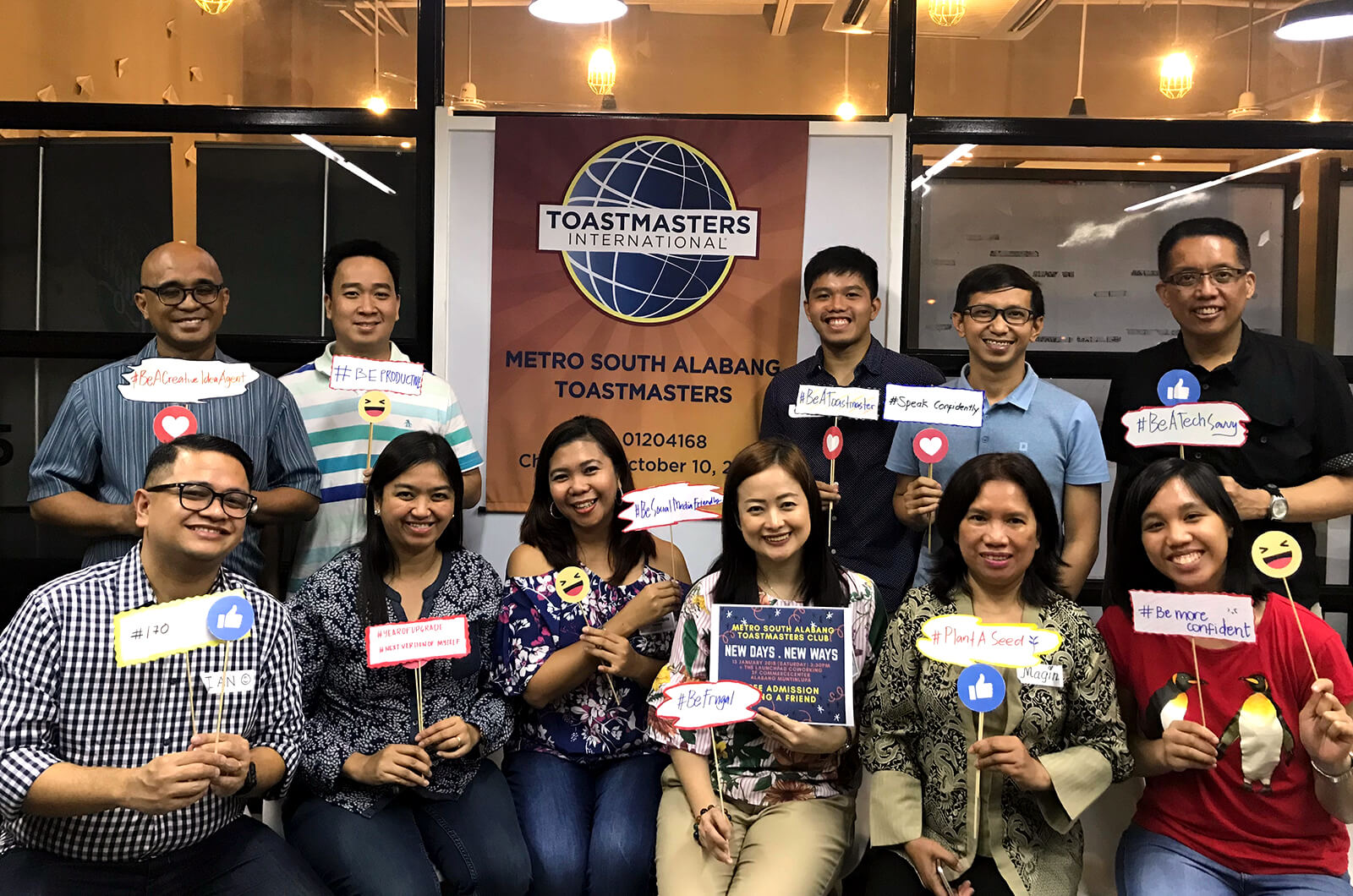 "Manila's Metro South Alabang Toastmasters club try a ""New Days, New Ways"" theme during a fun meeting."