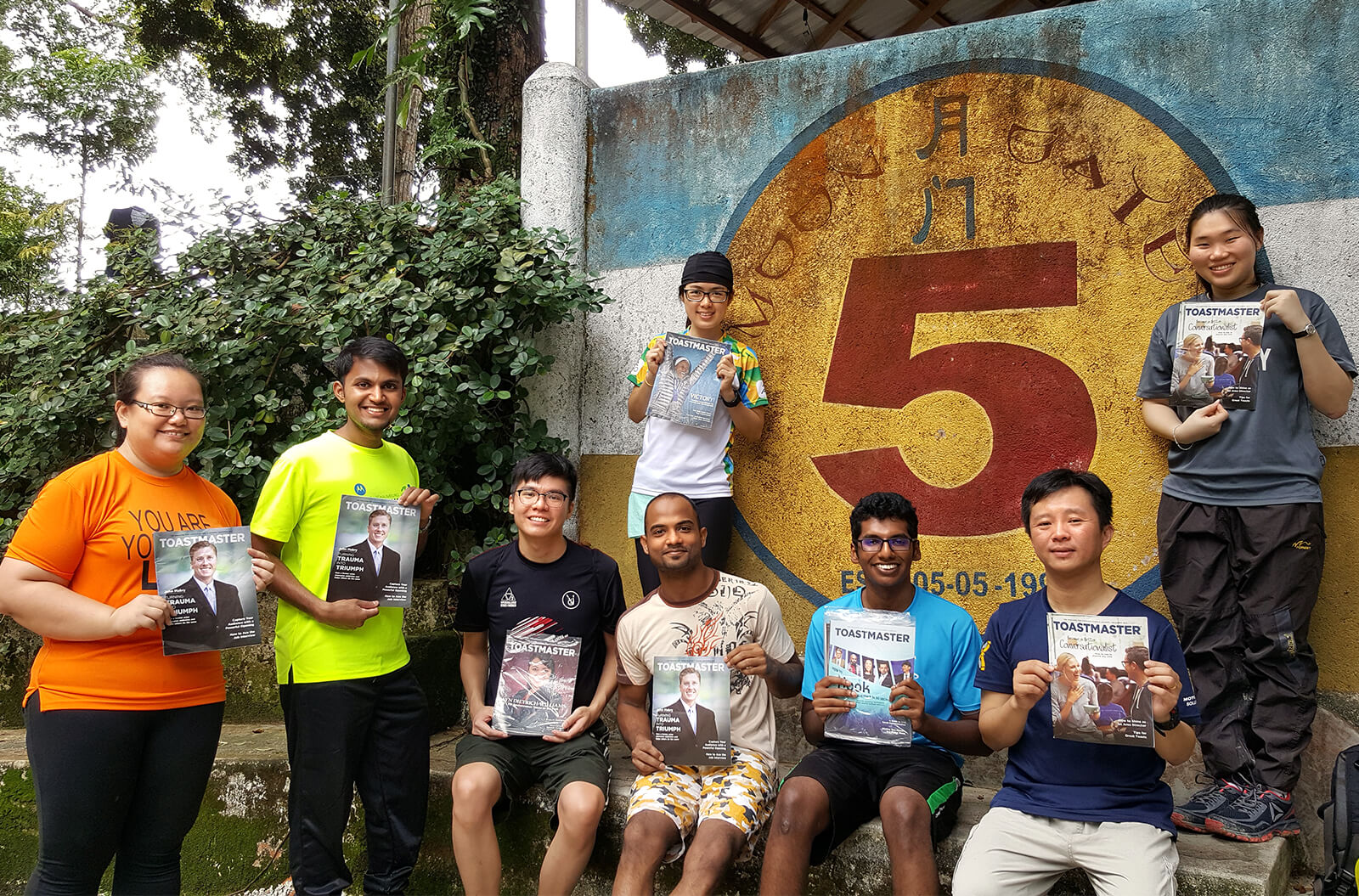 Motorola Penang Club members host a special Table Topics session outside Station 5, a popular hangout near George Town, Penang, Malaysia.