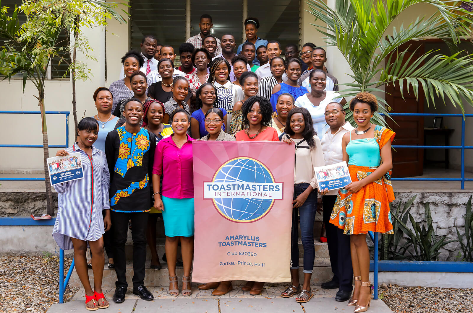 The Amaryllis Toastmasters club in Port-au-Prince, Haïti, celebrates its 600th meeting.
