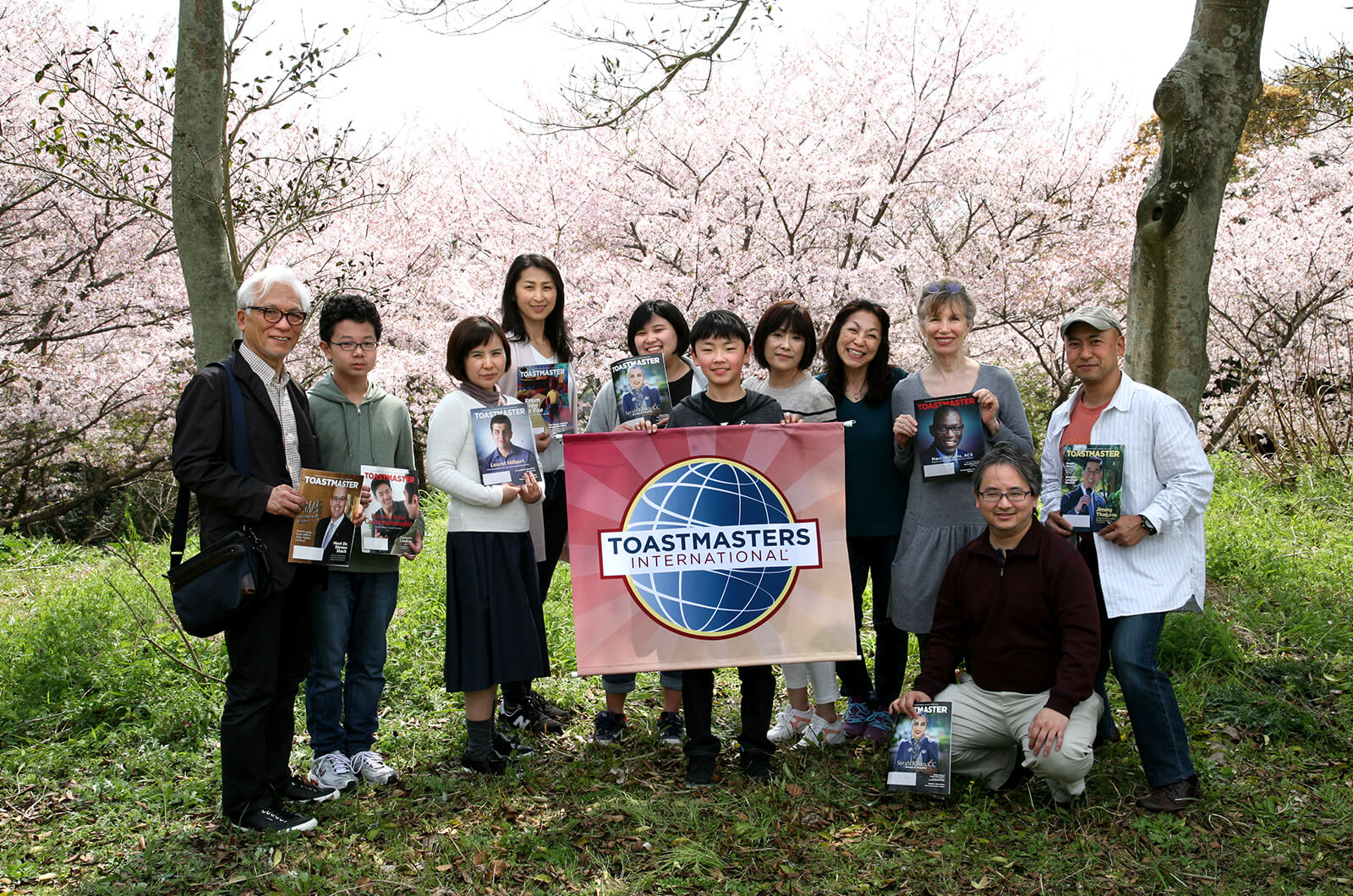 "Sasebo Fleet Activities Toastmasters in Sasebo, Nagasaki, Japan, hold a special Table Topics session in Hananomori Park on April 1 to celebrate the annual ""Hanami"" tradition of meeting under the cherry blossoms in the springtime."