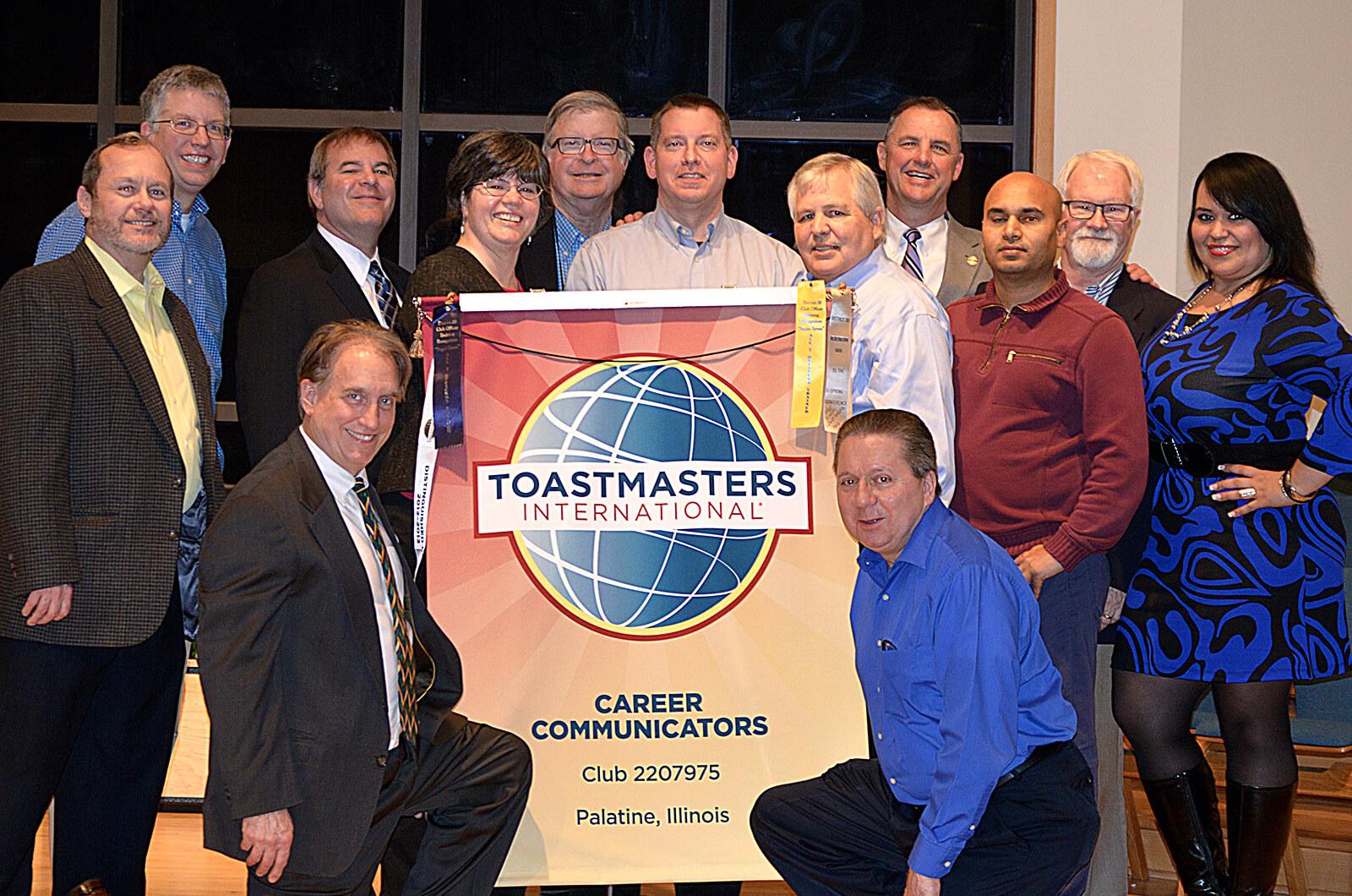 The Career Communicators of Palatine, Illinois, celebrate the club's 5-year anniversary.