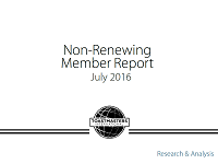2015 	Non-Renewing Member Survey Report