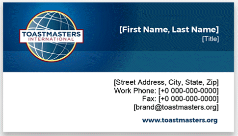 Toastmasters Business Cards horizontal 1 thumbnail