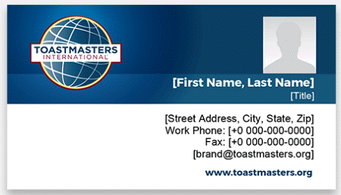 Toastmasters Business Cards horizontal 2 thumbnail