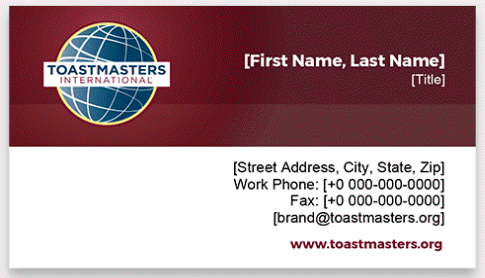 Toastmasters Business Cards horizontal 3 thumbnail